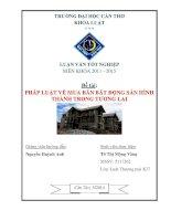 pháp luật về mua bán bất động sản hình thành trong tương lai