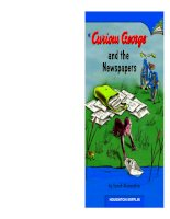 Curious george and the newspapers