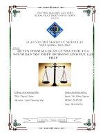 đề tài: quyền tham gia quản lý nhà nước của người dân tộc thiểu số trong lĩnh vực lập