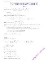 tuyển tập các đề thi tuyển sinh vào lớp 10 THPT môn toán tập 2
