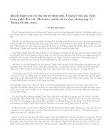 Kể lại truyện Thạch Sanh mà em đã được đọc