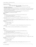 GIÁO án đề KIỂM TRA 1 TIẾT đại số 10 lần 1