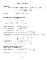 Phương trình vô tỷ qua các đề thi đh
