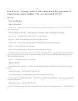 Hãy viết thêm một số lời thoại để thành màn kịch theo gợi ý( SGK tiếng việt 5 tập 2 trang 114)