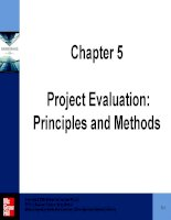 Project evaluation  principles and methods