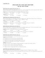 Đề kiểm tra trắc nghiệm vật lý lớp 10   ứng dụng các định luật