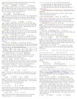 Đề thi và đáp án trắc nghiệm vật lý 10 phần động học