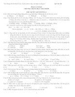 Bài tập ôn tập chương 1 vật lý lớp 10