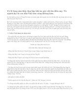 Hãy đọc kĩ đoạn trích dưới đây trong truyện ngắn Một người Hà Nội của Nguyễn Khải, và cho biết ý kiến về ý nghĩa nội dung của đoạn trích ấy.