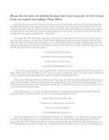 Phân tích tâm trạng của Thúy Kiều trong đoạn thơ Trao duyên