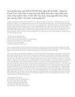 """Nhân cách nhà nho chân chính trong """"Bài ca ngất ngưởng"""" của Nguyễn Công Trứ"""