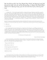 Phân tích bài thơ Hoàng Hạc lâu tống Mạnh Hạo Nhiên chi Quảng Lăng của Lí Bạch
