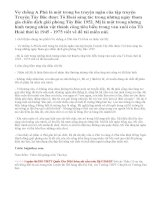 Phân tích sức sống tiềm tàng của nhân vật Mị trong Vợ chồng A Phủ của Tô Hoài thể hiện trong cảnh ngộ khi cô bị bắt làm con dâu gạt nợ nhà thống lí Pá Tra đến khi trốn khỏi Hồng Ngài.