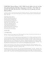 Cảm nhận về đoạn thơ đầu của bài Tây Tiến_bài 1