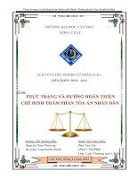 thực trạng và hướng hoàn thiện chế định thẩm phán tòa án nhân dân