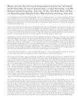Bình giảng đoạn văn sau trong Người lái đò Sông Đà của Nguyễn Tuân:Thuyền tôi trôi trên sông Đà... mình dây cổ điển trên dòng trên