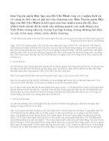 Anh (chị) hãy phân tích giá trị lịch sử và giá trị văn chương của bản Tuyên ngôn Độc lập của Hồ Chí Minh.