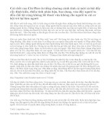 Nhận xét về bi kịch cái chết của Chí Phèo