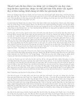 Bức tranh phố huyện và tâm trạng nhân vật Liên qua ngòi bút Thạch Lam trong truyện ngắn Hai đứa trẻ