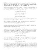 Bình giảng khổ thơ đầu trong bài thơ Đây thôn Vĩ Dạ của Hàn Mạc Tử: Sao anh không về chơi thôn Vĩ...Lá trúc che ngang mặt chữ điền.