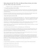 Bình giảng về bài thơ Tây Tiến của Quang Dũng