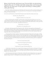 """Phân tích đoạn trích """"Chí khí anh hùng"""" trong """"Truyện Kiều"""" của Nguyễn Du"""