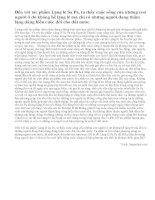 Trong truyện ngắn Lặng lẽ Sa Pa, em thích nhât điều gì? Nêu ý kiến của em về điều đó (Bài 5)