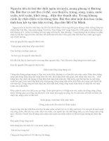 Phân tích bài thơ Nguyên tiêu (Rằm tháng giêng) - một bài thơ xuân tuyệt tác của Hồ Chí Minh.