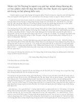 Phân tích nhân vật Vũ Nương trong tác phẩm: Chuyện người con gái Nam xương của Nguyễn Dữ và nói lên cảm nghĩ của em.