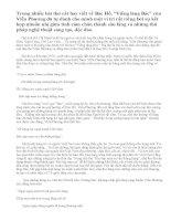 Viếng lăng Bác là bài ca ân tình cảm động, đẹp đẽ của nhà thơ Viễn Phương và đồng bào miền Nam đối với Bác Hồ vô vàn kính yêu. Phân tích bài thơ Viếng lăng Bác của Viễn Phương để làm sáng tỏ nhận xét trên