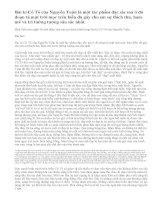 Phát biểu cảm nghĩ về một đoạn văn mà em thích nhất trong bài kí Cô Tô của Nguyễn Tuân