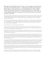 Phân tích nhân vật Quang Trung trong đoạn trích Hoàng Lê nhất thống chí