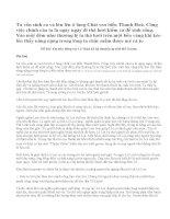 Đóng vai Lê Thận kể lại chuyện sự tích Hồ Gươm
