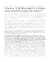 Nêu cảm nghĩ về người anh hùng Nguyễn Huệ trong Hồi thứ mười bốn của tác phẩm Hoàng Lê nhất thống chí