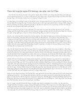 Tóm tắt truyện ngắn Cố hương của nhà văn Lỗ Tấn.