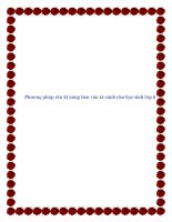 SKKN  phương pháp rèn kĩ năng làm văn tả cảnh cho học sinh lớp 6