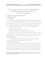 THỰC TRẠNG SỬ DỤNG ĐẤT SẢN XUẤT NÔNG NGHIỆP Ở PHƯỜNG HƯƠNG CHỮ,THỊ XÃ HƯƠNG TRÀ, TỈNH THỪA THIÊN HUẾ
