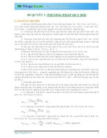 10 BÍ QUYẾT CHINH PHỤC PHƯƠNG PHÁP GIẢI TOÁN CHỦ CHỐT MÔN HÓA HỌC (Phần 1)