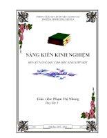skkn RÈN KỸ NĂNG ĐỌC CHO HỌC SINH LỚP MỘT