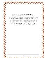skkn hướng dẫn học sinh sử dụng sơ đồ tư duy tìm hướng chứng minh bài tập hình học 7
