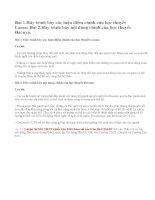 Bài 1, 2 trang 112 SGK Sinh 12