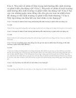 Bài 1,2,3,4 Sinh 11 trang 157