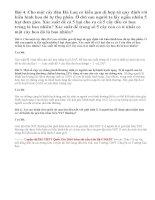 Bài 4, 5, 6 trang 102 SGK Sinh 12