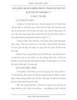 skkn SÁNG KIẾN KINH NGHIỆM PHƯƠNG PHÁPGIẢI một số bài tập nhiễm sắc thể SINH học 9