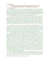 BIỆN PHÁP tổ CHỨC một số HOẠT ĐỘNG THƯ VIỆN ở TRƯỜNG THCS lý tự TRỌNG TP TAM kỳ
