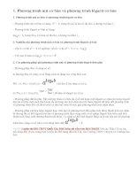 Lý thuyết phương trình mũ và phương trình lôgarit