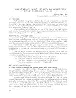 MỘT số kết QUẢ NGHIÊN cứu bước đầu về BỆNH nấm hại mía ở MIỀN ĐÔNG NAM bộ