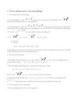 Lý thuyết phương trình mặt phẳng