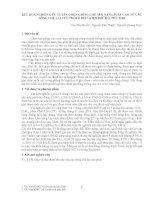 KẾT QUẢ NGHIÊN CỨU TUYỂN CHỌN GIỐNG CHÈ MỚI NĂNG SUẤT CAO TỪ CÁC DÒNG CHÈ LAI CỨU PHÔI Ở ĐIỀU KIỆN PHÚ HỘ PHÚ THỌ