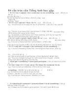 84 Cấu Trúc Tiếng Anh Hay Gặp Trong Các Đề Thi